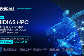 Webinar «PHIDIAS HPC – Building a prototype for Earth Science Data and HPC Services»